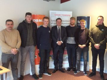 MP 'very proud' to issue awards to newly qualified Apprentices.